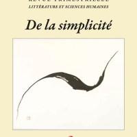 Couverture du numéro 169 - sur la simplicité