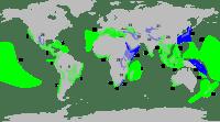 Les 34 points chauds (hot spots) de biodiversité.