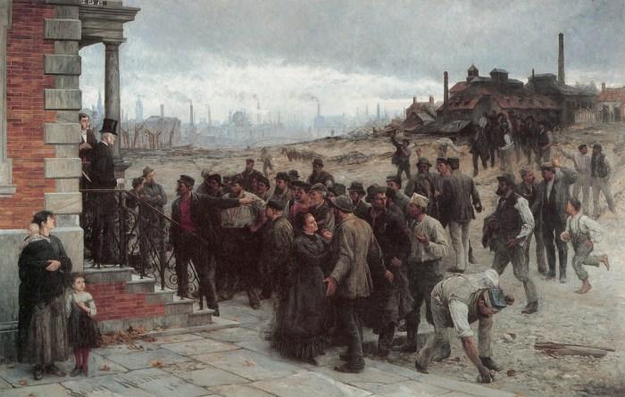 La Grève (1886), par Robert Koehler.