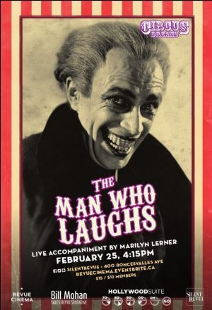 Silent Revue Man Who Laughs poster by Casey Shea