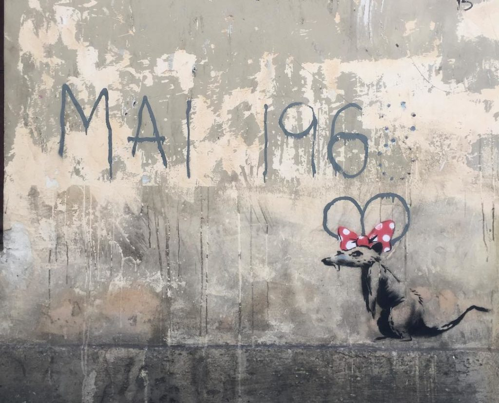minnie mouse mai 1968 Banksy Paris