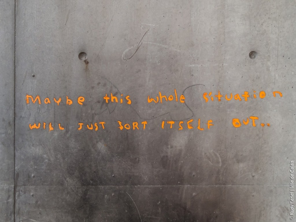 écrit Banksy Calais