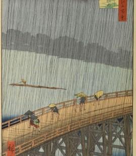 estampe d'Hiroshige, Averse soudaine sur le pont Ohashi à Atake