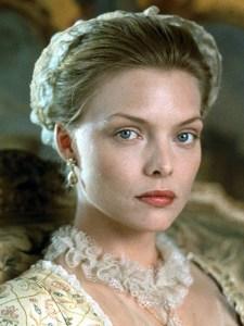 Michelle Pfeiffer, incarnant Madame de Tourvel dans les Liaisons Dangereuses de S.Frears