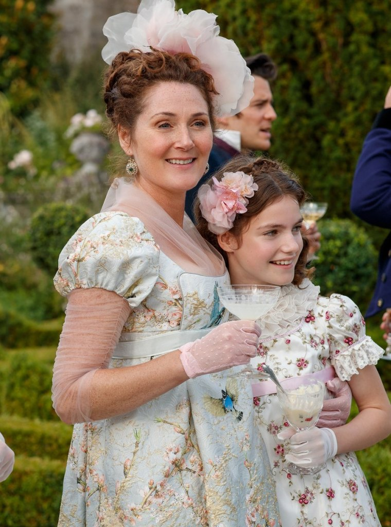 Violet Bridgerton et sa fille Hyacinth