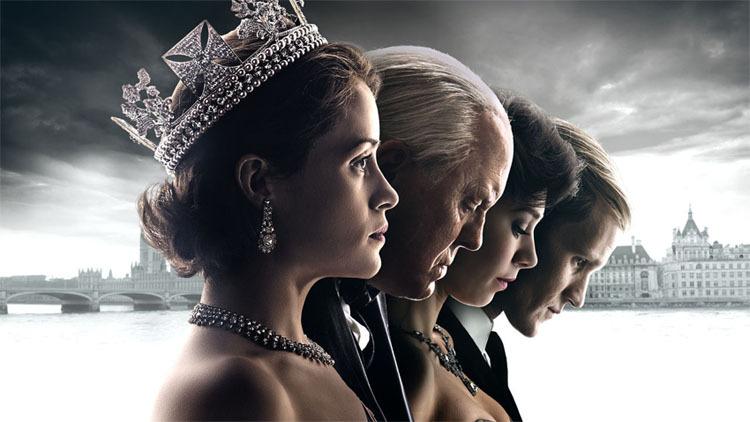 Cette image présente les 4 silhouettes d'Elizabeth II, Winston Churchill, Margaret du Royaume-Uniet Philippe, duc d'Edimbourg