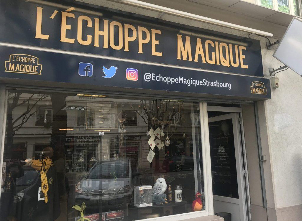 Entrée de l'Echoppe Magique à Strasbourg