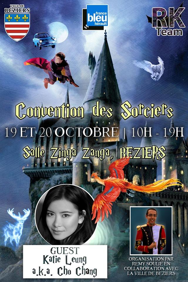 Affiche officielle de la convention des sorciers avec Katie Lung et Poudlard