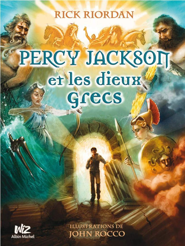 couverture de Percy Jackson et les dieux grecs, illustrée par John Rocco
