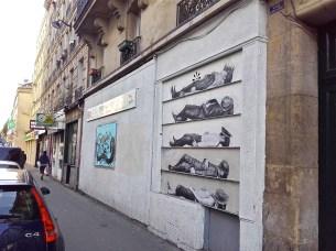 Rideau de fer peint rue