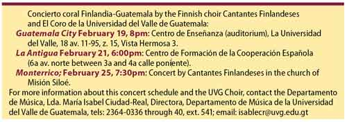 Cantores Finlandeses Performs For Guatemala