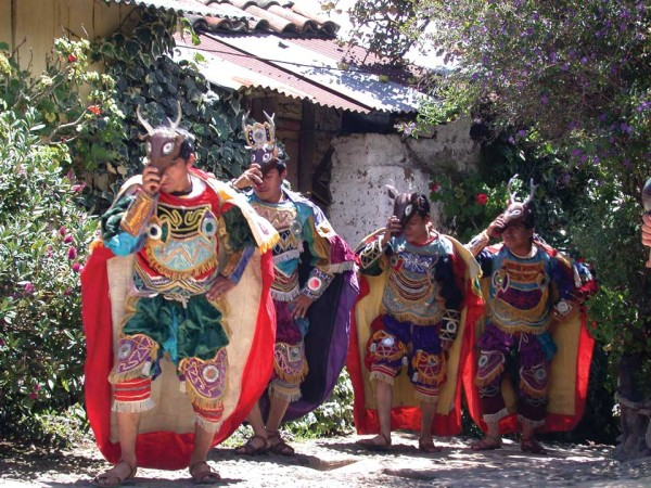 Deer dancer provide a cultural experience. (photo: Harris & Goller - viaventure.com)