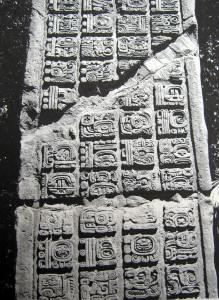 Example of 7th-8th-Century Maya hieroglyphs
