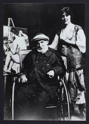 Pierre-Auguste Renoir et son dernier modèle Andrée Heuschling en 1918. Walter Halvorsen / Ville de Cagnes-sur-Mer