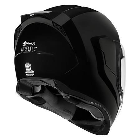 smallest shell full face helmet icon airflite helmet black rollover