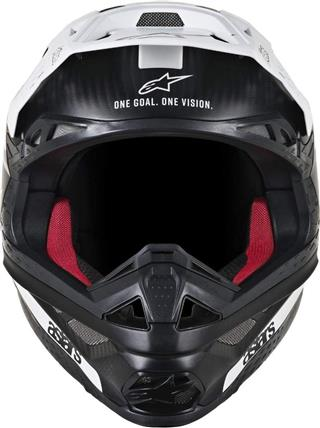 Alpinestars Supertech M10 Dyno Helmet-Matte Black White