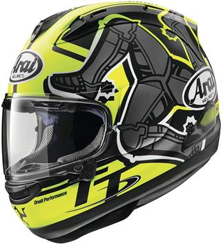 Arai Corsair-X Isle Of Man 2019 Adult Street Motorcycle Helmet - Yellow Medium