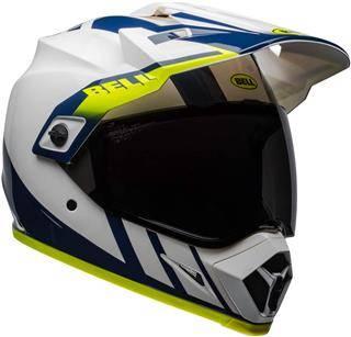 Bell MX-9 Adventure MIPS Dash Gloss White Dirt Helmet