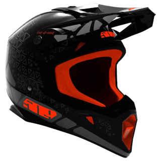 509 Tactical Offroad Helmet Black Fire Hextant