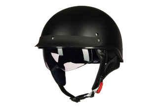 ILM Open Face Sun Visor Motorcycle Half Helmet