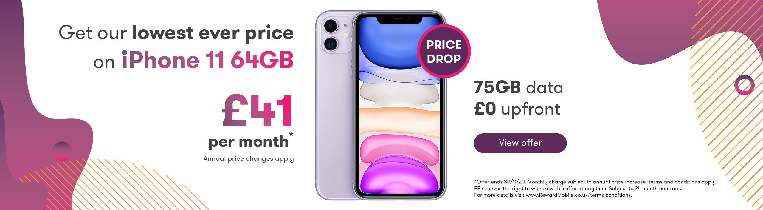 iPhone 11 Price drop web banner offer
