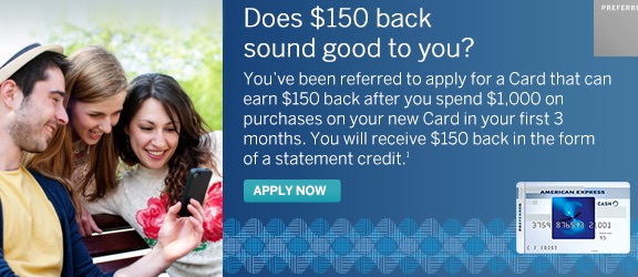 americanexpress preferred 150 promocode
