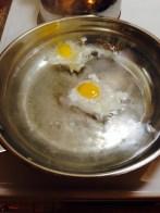 Poaching the eggs