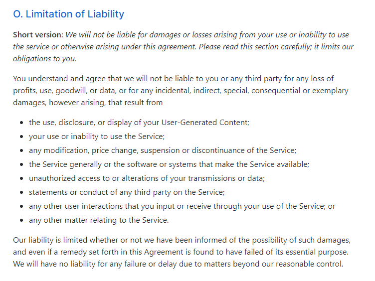 GitHub's terms of service