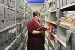 Archivist in the archive