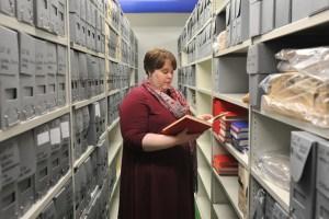 Archivist in the archive