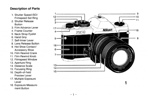 SLR Camera parts