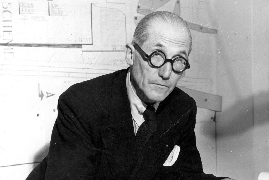 portrait of Le Corbusier
