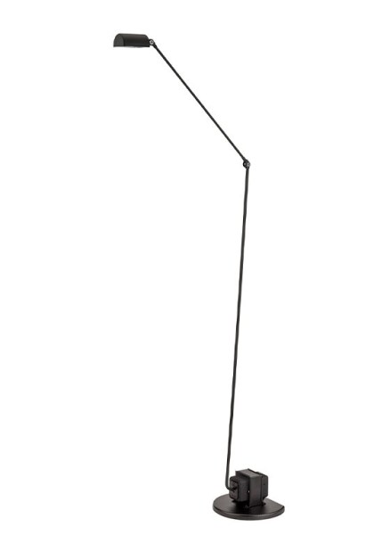Daphine Terra LED floor lamp in a metal base with articulated swivel arm