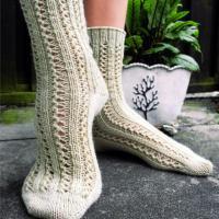 Double Lace Rib Socks - Free Pattern