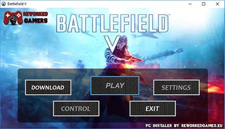Battlefield V PC Installer Menu