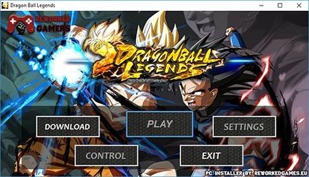 Dragon Ball Legends PC Installer Menu