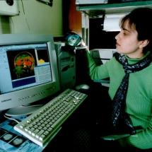 В лабораторії обробки медичних зображень, 90-ті роки ХХ ст.