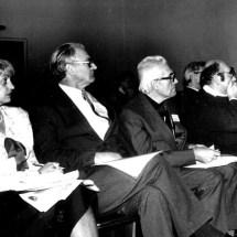 О. Бардамід, С. Левитський, М. Находкін на V Міжнародній конференції з електронної спектроскопії, 1993 р.