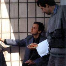 О. Нечипорук та В. Бобков на Міжнародному семінарі по спінових хвилях, Санкт-Петербург, 1998 р.