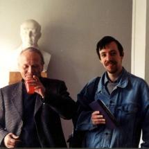 В. Данилов, В. Бобков на Міжнародному семінарі по спінових хвилях, Санкт-Петербург, 1998 р.