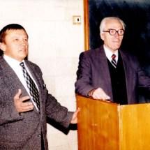Поздоровлення М. Находкіна з ювілеєм, 90-ті роки