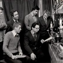 І. Пугач, Ю. Косинський, С. Скорик, Д. Пилипко, Б. Молочников, лабораторія кільцевих лазерів, 80-ті роки ХХ ст.