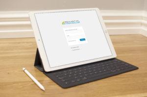 strona internetowa na tablet