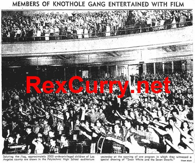 Pledging allegiance - Los Angeles, 1938