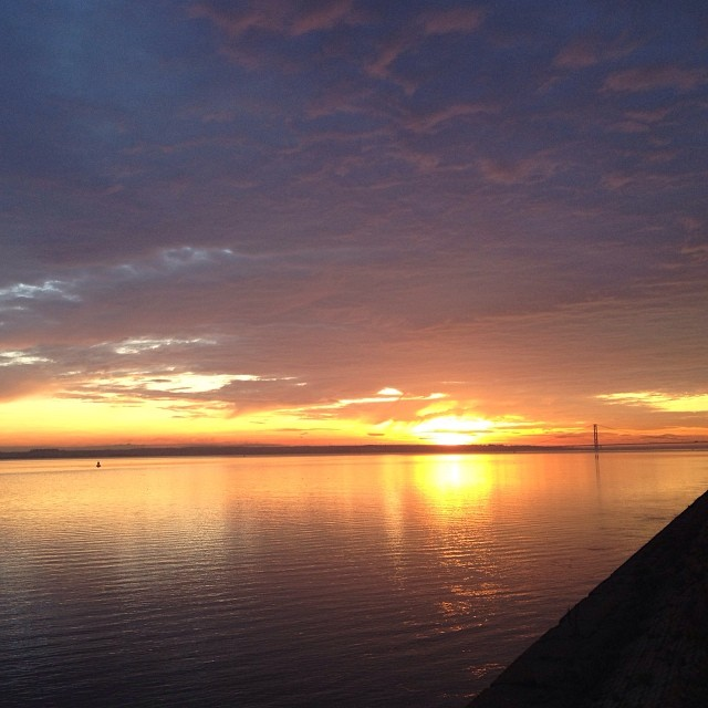 Funky Friday Photo: Sunset on the River Humber