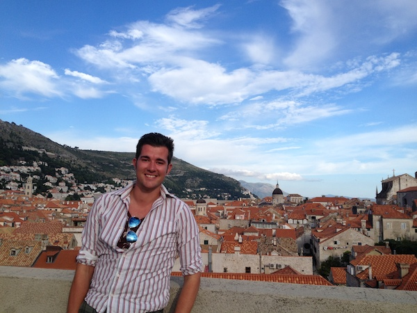 The City Walls of Dubrovnik At Sunset