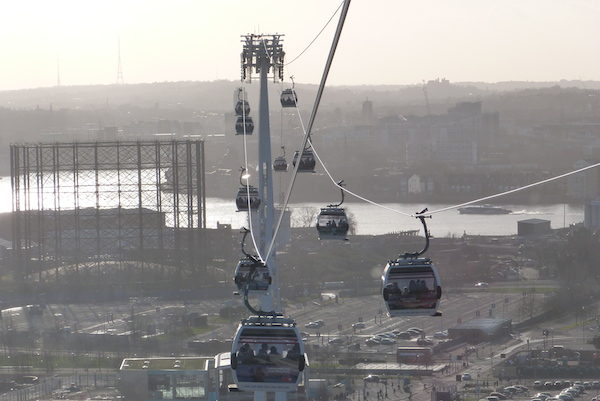 Emirates Air Line, Bite in London