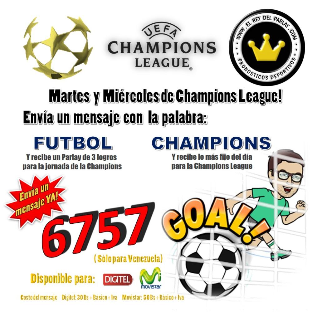 mensajería futbol champions
