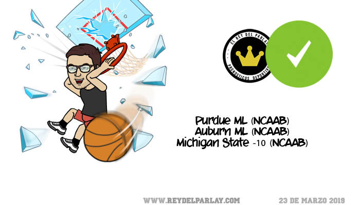 Parlay gratis March Madness ¡Acertado!