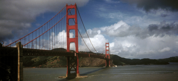 Golden Gate Bridge via film camera, San Francisco, 1987
